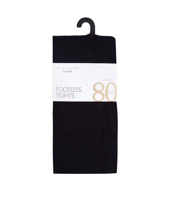 54ebc24ff0dc0 Curves Black 80 Denier Footless Tights | New Look