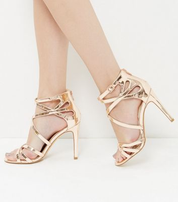 Wide Fit Rose Gold Patent Metallic