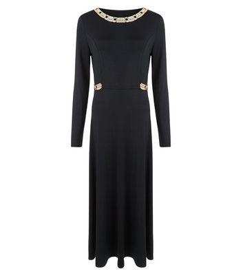 Mela Black Embellished Maxi Dress New Look