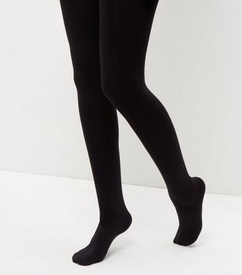 Here's what different denier black tights look like on real legs.