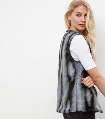 Mela Grey Faux Fur Gilet New Look