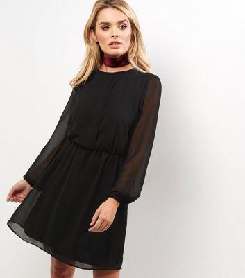 robe noire mousseline