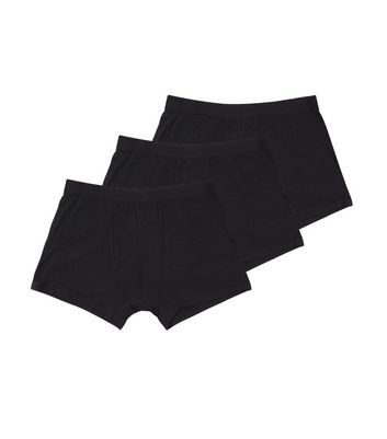 3 Pack Black Boxer Briefs New Look