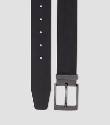 Black Tapered End Belt New Look