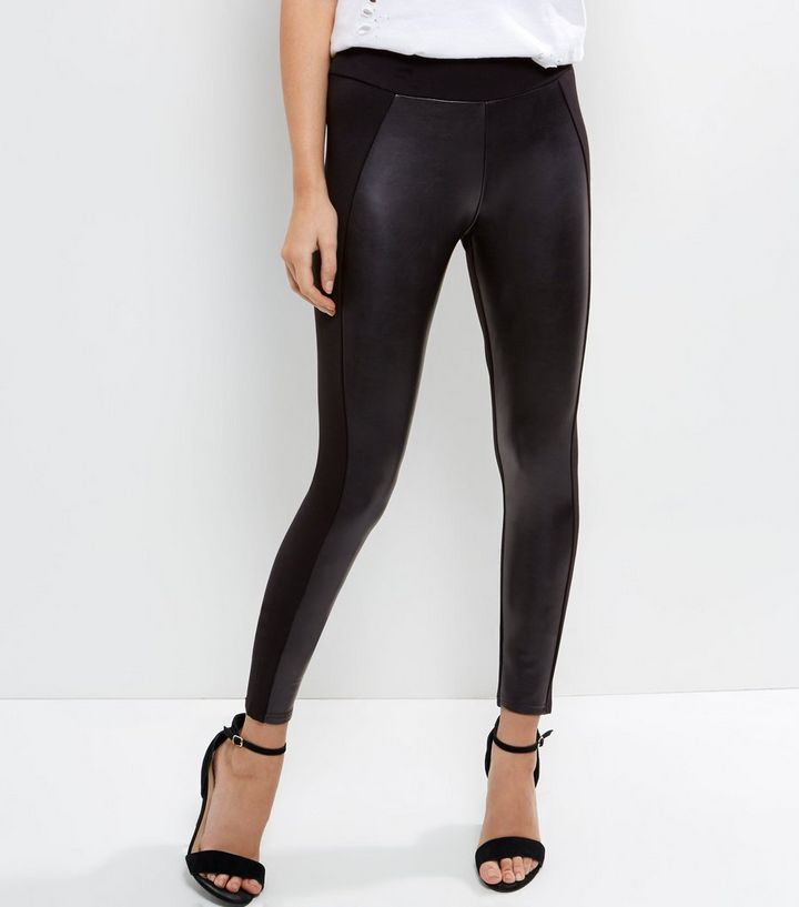 2019 best sell structural disablities better Black Leather-Look Leggings Add to Saved Items Remove from Saved Items