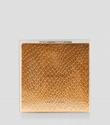 Rose Gold Snakeskin Compact Mirror New Look