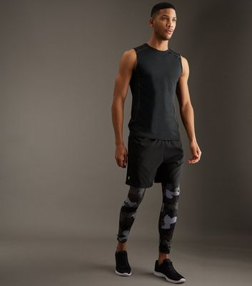 Black Stretch Sports Vest New Look