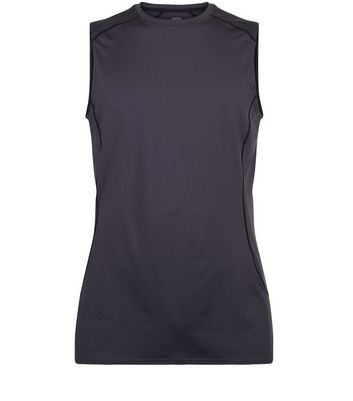 Dark Grey Stretch Sports Vest New Look