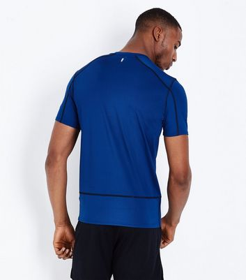 Bright Blue Stretch Short Sleeve Sports T-Shirt New Look
