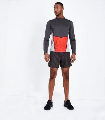 Grey Running Shorts New Look