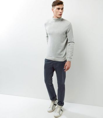 Navy Slim Chinos New Look