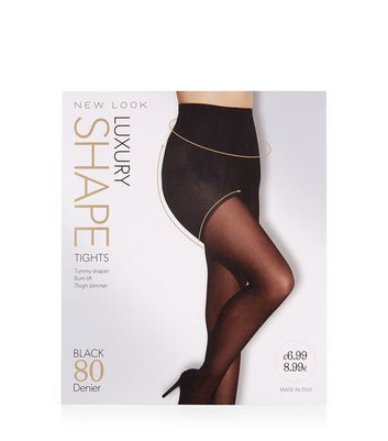 Black 80 Denier Luxury Shaping Tights New Look
