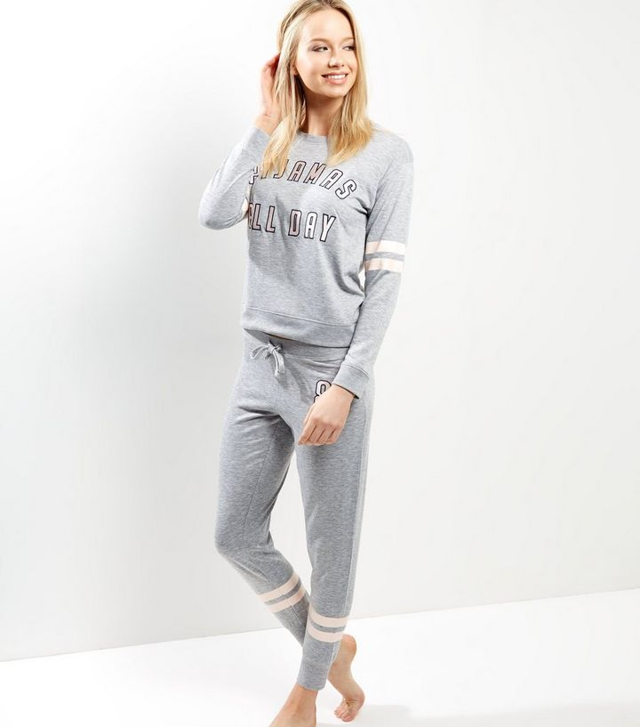 af40db1fa6 ... Petite Grey Pyjamas All Day Pyjama Sweater. ×. ×. ×. Shop the look