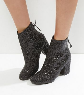 ankle boots with sparkle