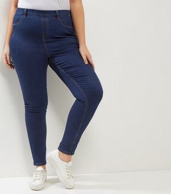 Curves Blue Jeggings New Look