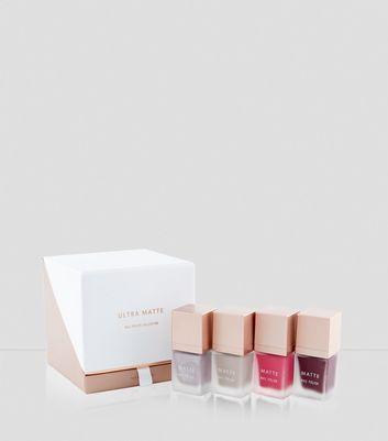 4 Pack Matte Nail Polish Set New Look