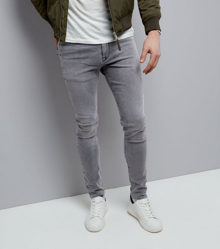 new products 100% authenticated modern and elegant in fashion Dark Grey Stretch Skinny Jeans Add to Saved Items Remove from Saved Items