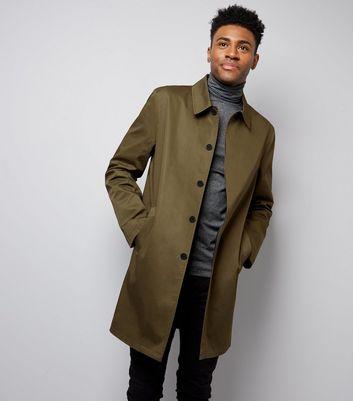 Khaki Single Breasted Trench Coat New Look