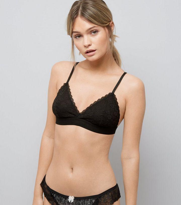 24a20b3bc980b Black Lace Bralette | New Look