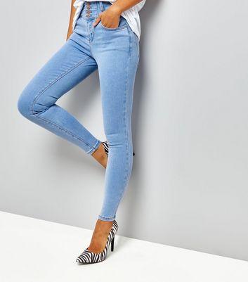 Blue High Waist Skinny Yazmin Jeans New Look