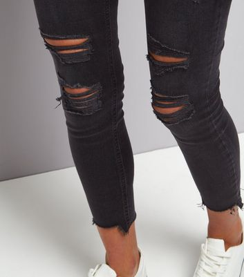 fair price novel style outlet on sale Black Extreme Ripped Skinny Jenna Jeans New Look by New Look ...