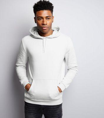 Pale Grey Pocket Front Hoodie New Look