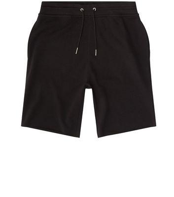 Black Pique Shorts New Look