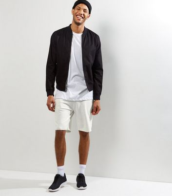 Cream Pique Shorts New Look