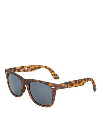 Brown Tortoiseshell Retro Square Sunglasses New Look