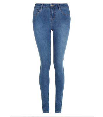 Tall Blue Super Soft Super Skinny Jeans New Look