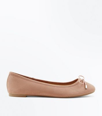 Pink Suedette Ballet Pumps New Look