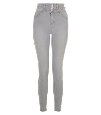 Grey High Waist Skinny Yazmin Jeans New Look
