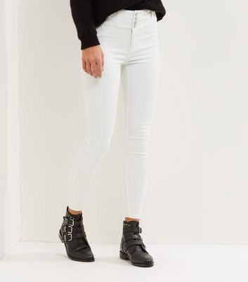 White High Waist Skinny Yazmin Jeans New Look