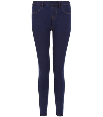 Blue Skinny Emilee Jeggings New Look