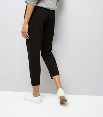 Black Slim Leg Cropped Trousers New Look