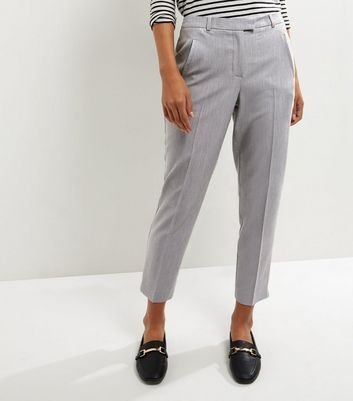 Grey Slim Leg Trousers New Look