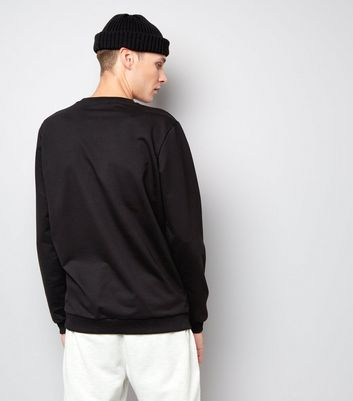 Jack & Jones Black Crew Neck Sweater New Look