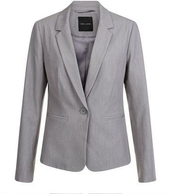 Pale Grey Suit Jacket New Look