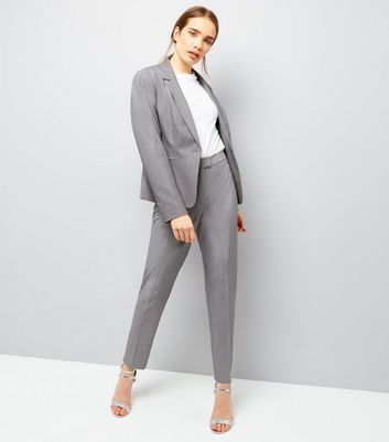 Pale Grey Suit Jacket New Look
