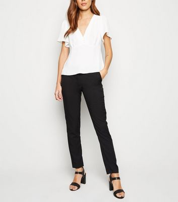 Black Stretch Slim Leg Trousers
