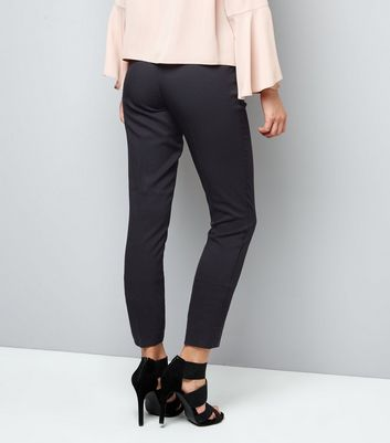 Black Stretch Slim Leg Trousers New Look