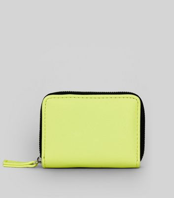 Yellow Zip Around Cardholder New Look