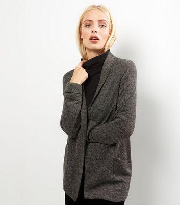 Grey Flecked Jersey Blazer New Look