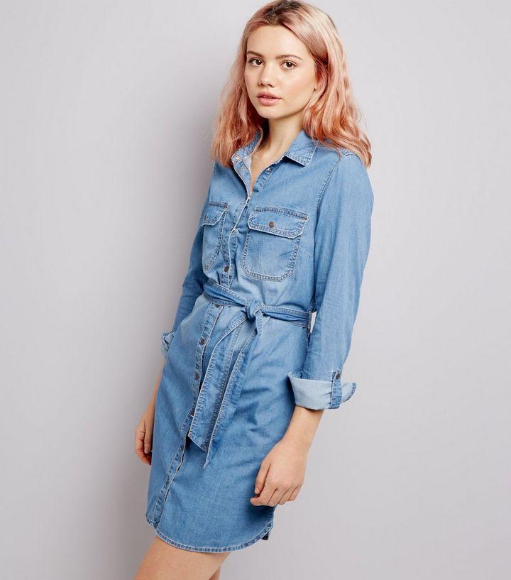 28c1be1018 Blue Denim Shirt Dress