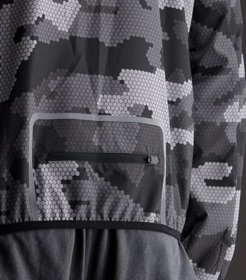 Grey Camo Sports Jacket New Look
