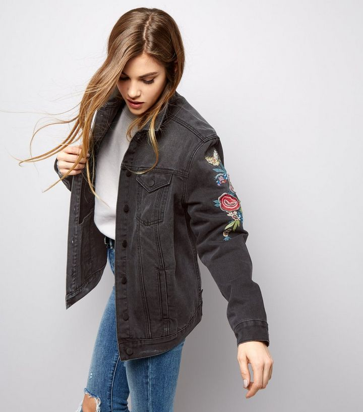 c3658e2744d Black Bird Embroidered Denim Jacket | New Look