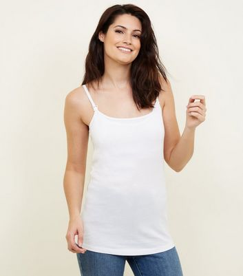 Maternity White Nursing Vest New Look