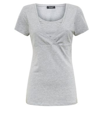 Maternity Grey Nursing T-shirt New Look