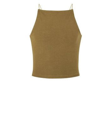 Teens Khaki High Neck Cami New Look