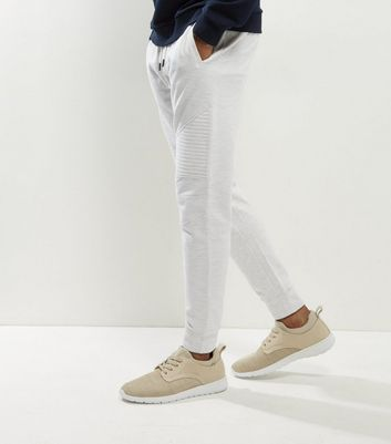 Cream Ecru Biker Joggers New Look